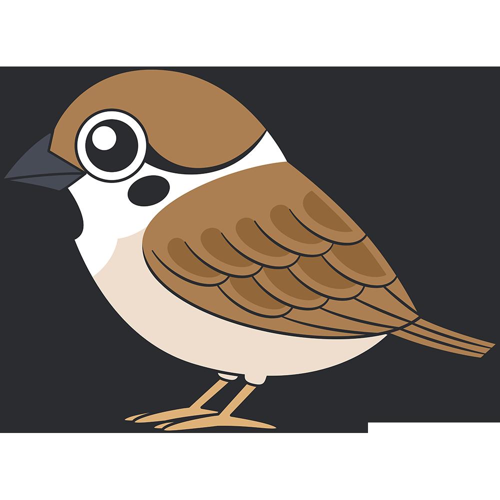 スズメ鳥のイラスト無料フリー