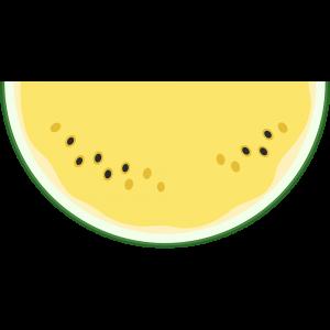 1/8の黄色いスイカ(果物)