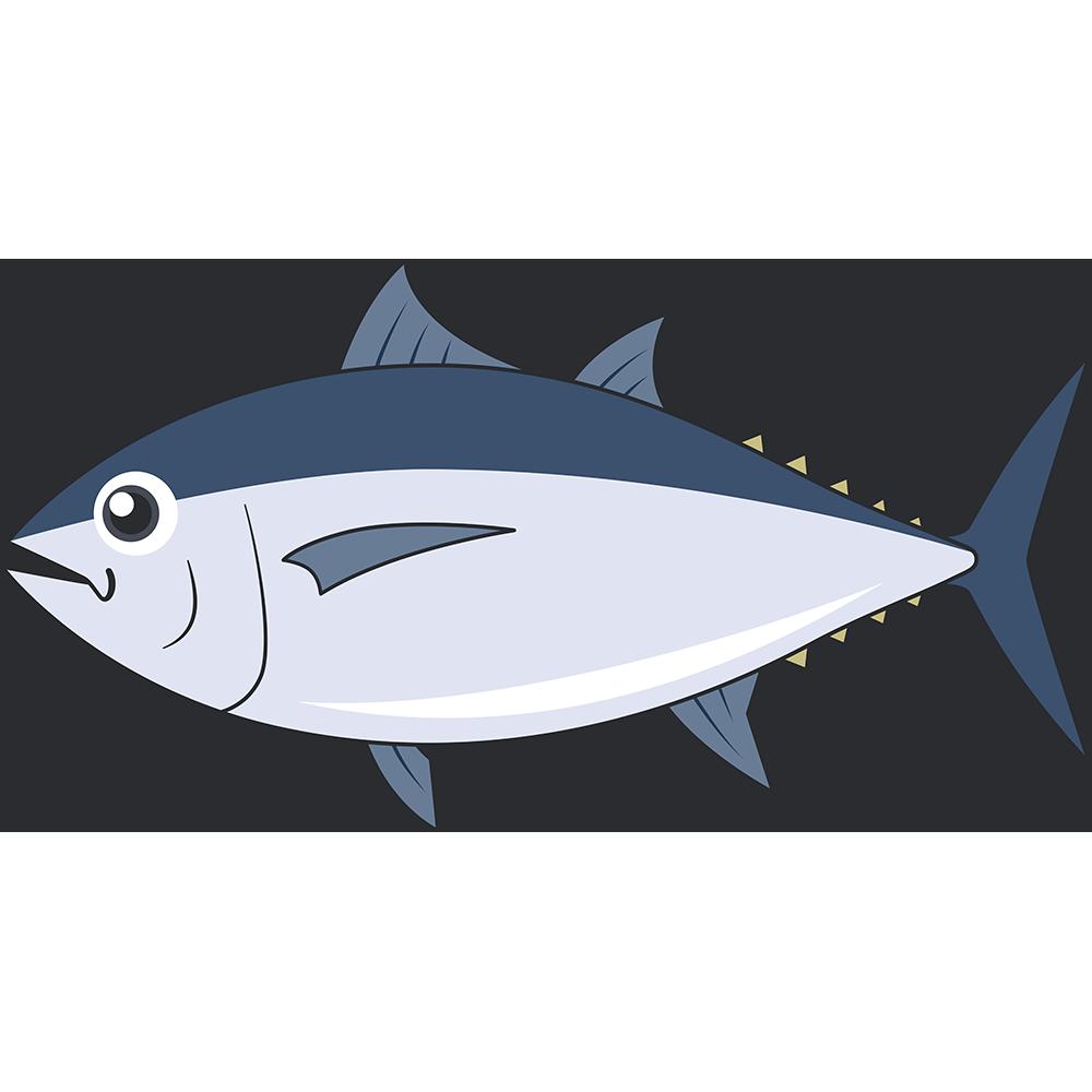 ミナミマグロ(魚)のイラスト【無料・フリー】
