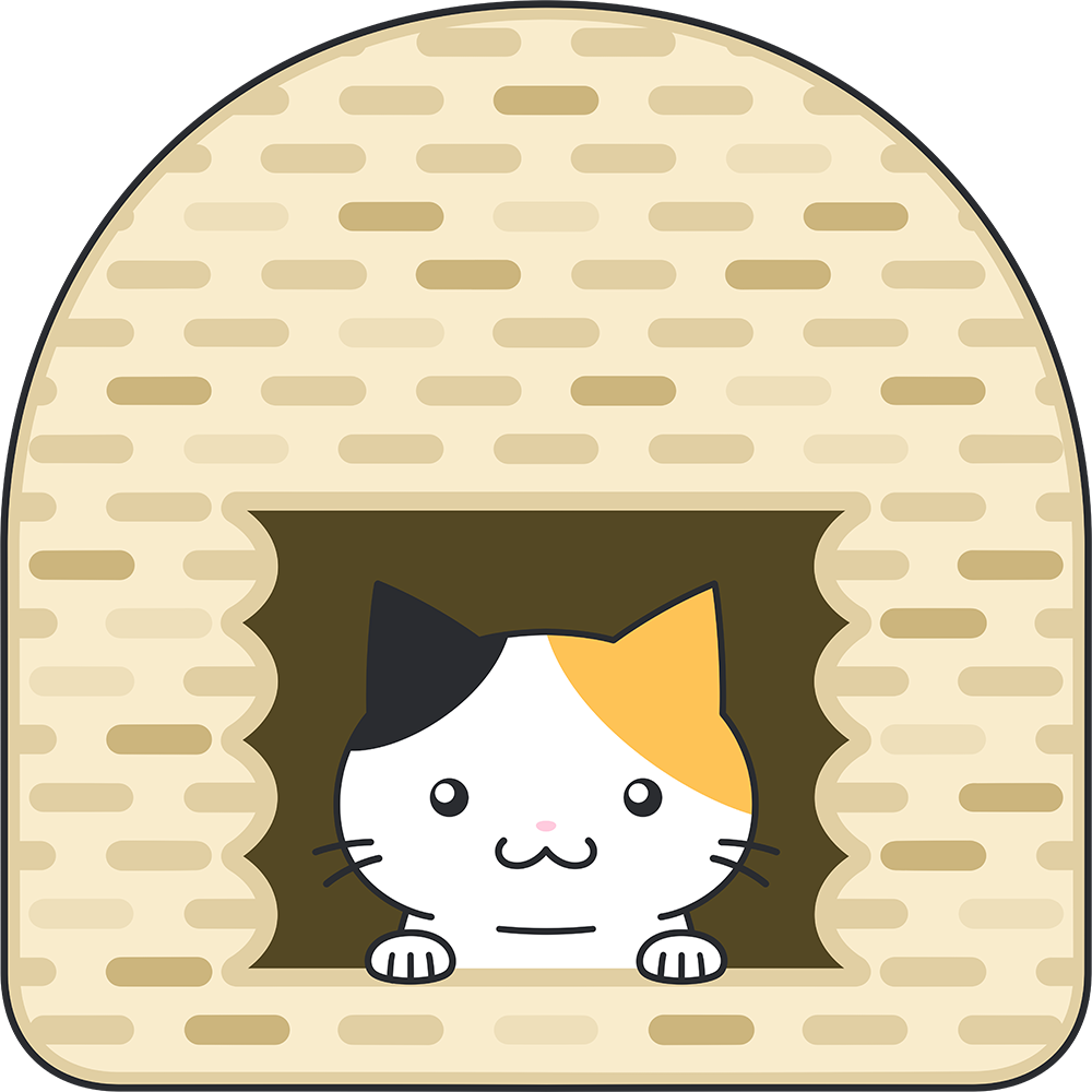 猫ちぐらのイラスト【無料・フリー】
