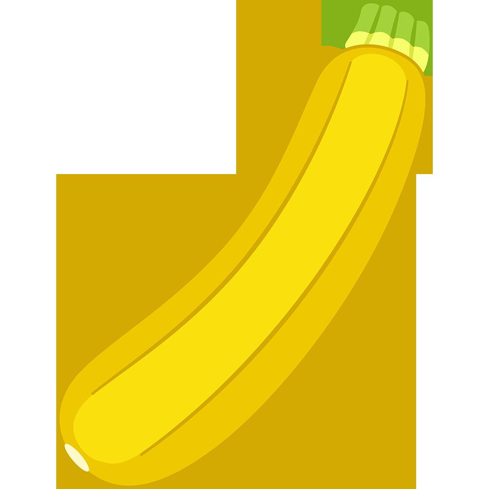 黄色いズッキーニのイラスト【無料・フリー】