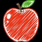 リンゴの手書きイラスト【無料・フリー】