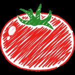 赤いトマトの手書きイラスト【無料・フリー】