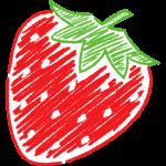 イチゴの手書きイラスト【無料・フリー】