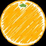 オレンジの手書きイラスト【無料・フリー】