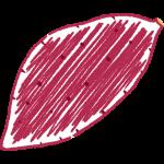 サツマイモの手書きイラスト【無料・フリー】