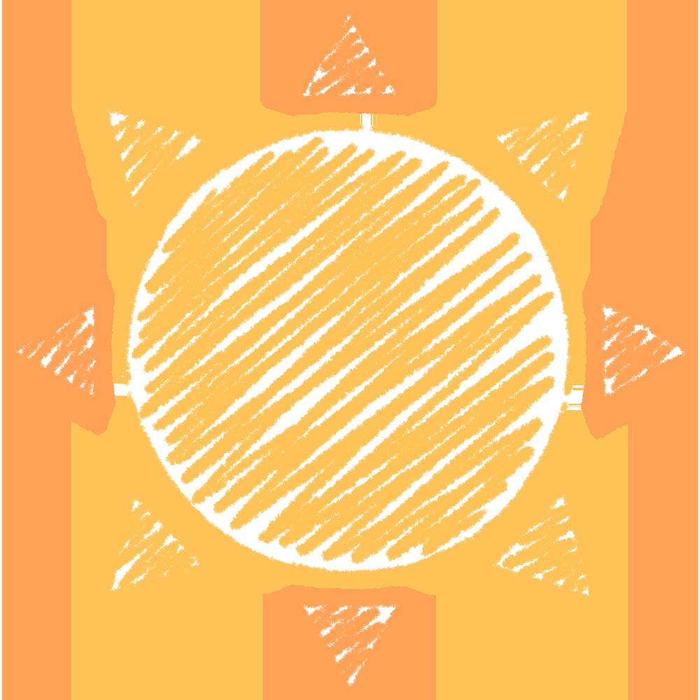天気・晴れ・太陽の手書きイラスト【無料・フリー】
