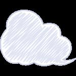 天気・曇り・雲の手書きイラスト【無料・フリー】