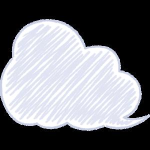 天気・曇り・雲の手書きイラスト