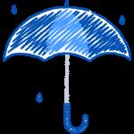 天気・雨・傘の手書きイラスト【無料・フリー】
