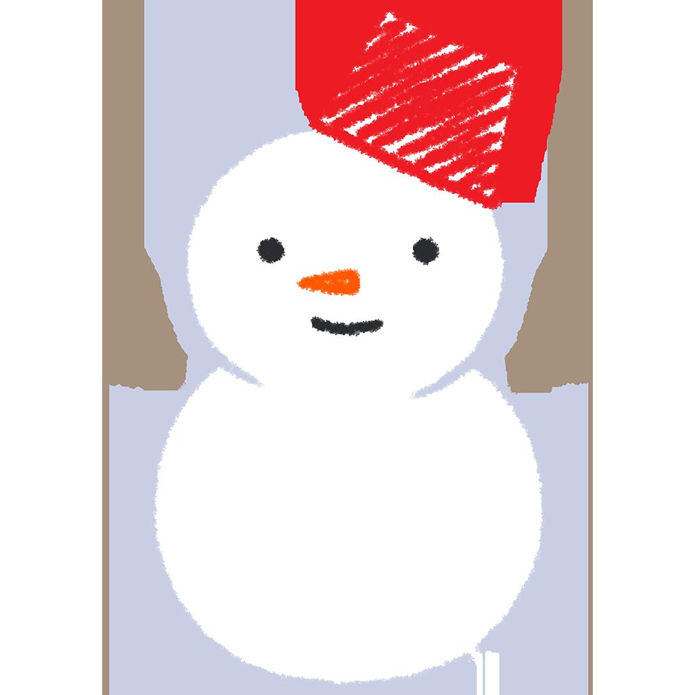 天気・雪・雪だるまの手書きイラスト【無料・フリー】