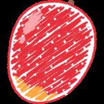 マンゴーの手書きイラスト【無料・フリー】