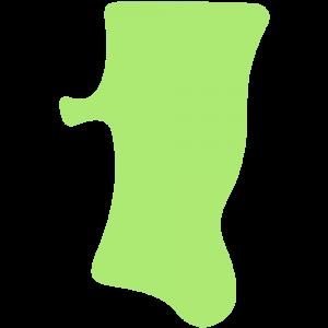秋田県の地図のイラスト【無料・フリー】