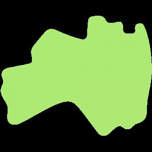 福島県の地図のイラスト【無料・フリー】