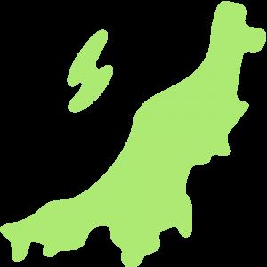 新潟県の地図のイラスト【無料・フリー】