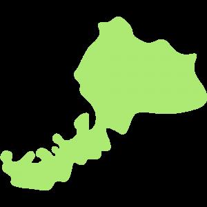 福井県の地図のイラスト【無料・フリー】