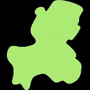 岐阜県の地図のイラスト【無料・フリー】