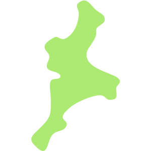 三重県の地図のイラスト【無料・フリー】