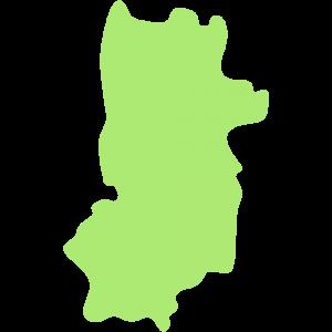 奈良県の地図のイラスト【無料・フリー】