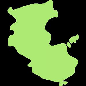 和歌山県の地図のイラスト【無料・フリー】