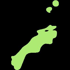 島根県の地図のイラスト【無料・フリー】