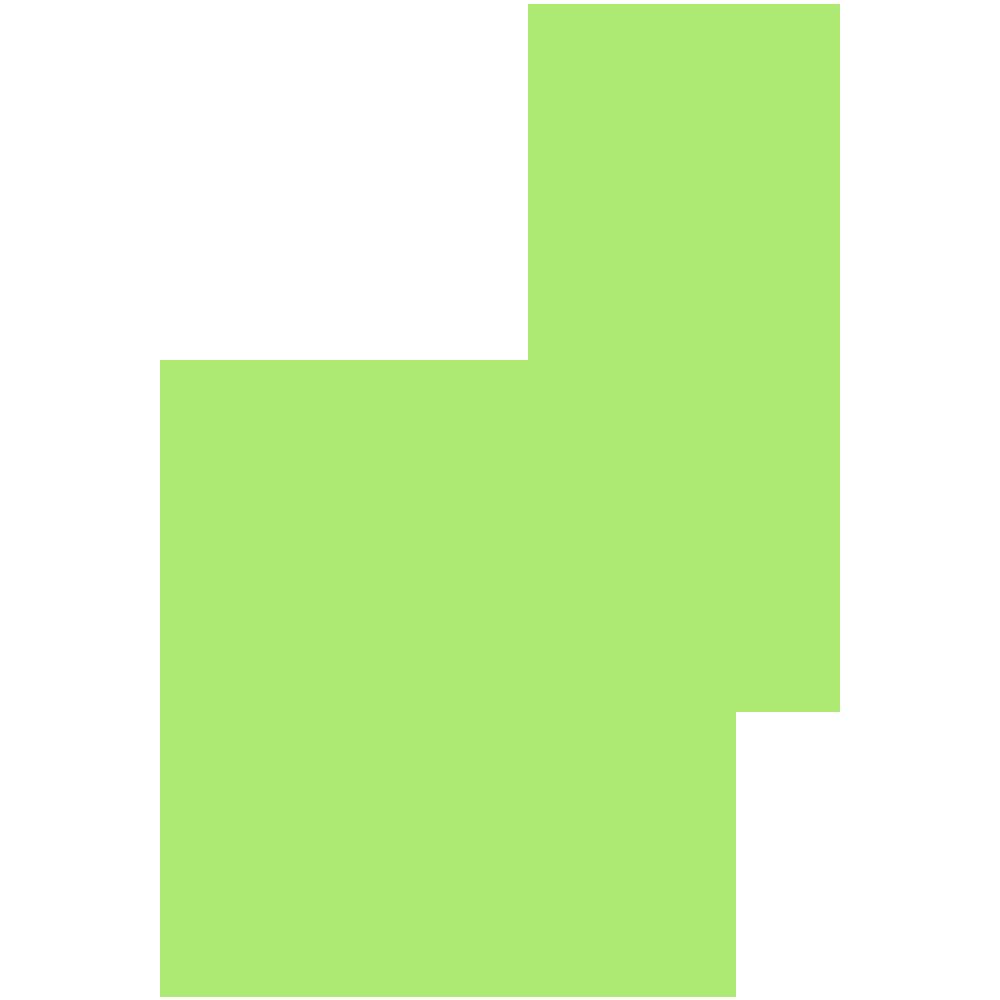 島根県の地図の無料イラスト