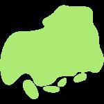 広島県の地図の無料イラスト