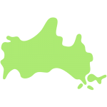 山口県の地図の無料イラスト