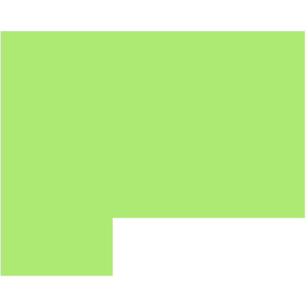 高知県の地図の無料イラスト