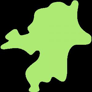 福岡県の地図のイラスト【無料・フリー】