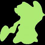 熊本県の地図の無料イラスト