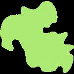 大分県の地図のイラスト【無料・フリー】