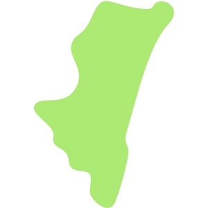 宮崎県の地図のイラスト【無料・フリー】
