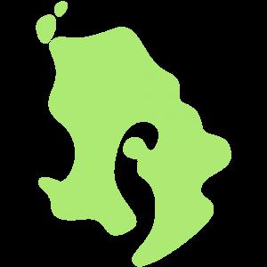 鹿児島県の地図のイラスト【無料・フリー】