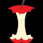 リンゴの芯のイラスト【無料・フリー】