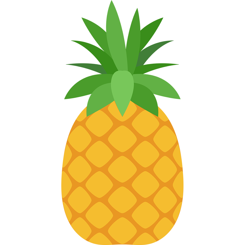 パイナップルのイラスト【無料・フリー】