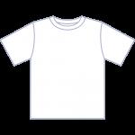 白いTシャツのイラスト【無料・フリー】