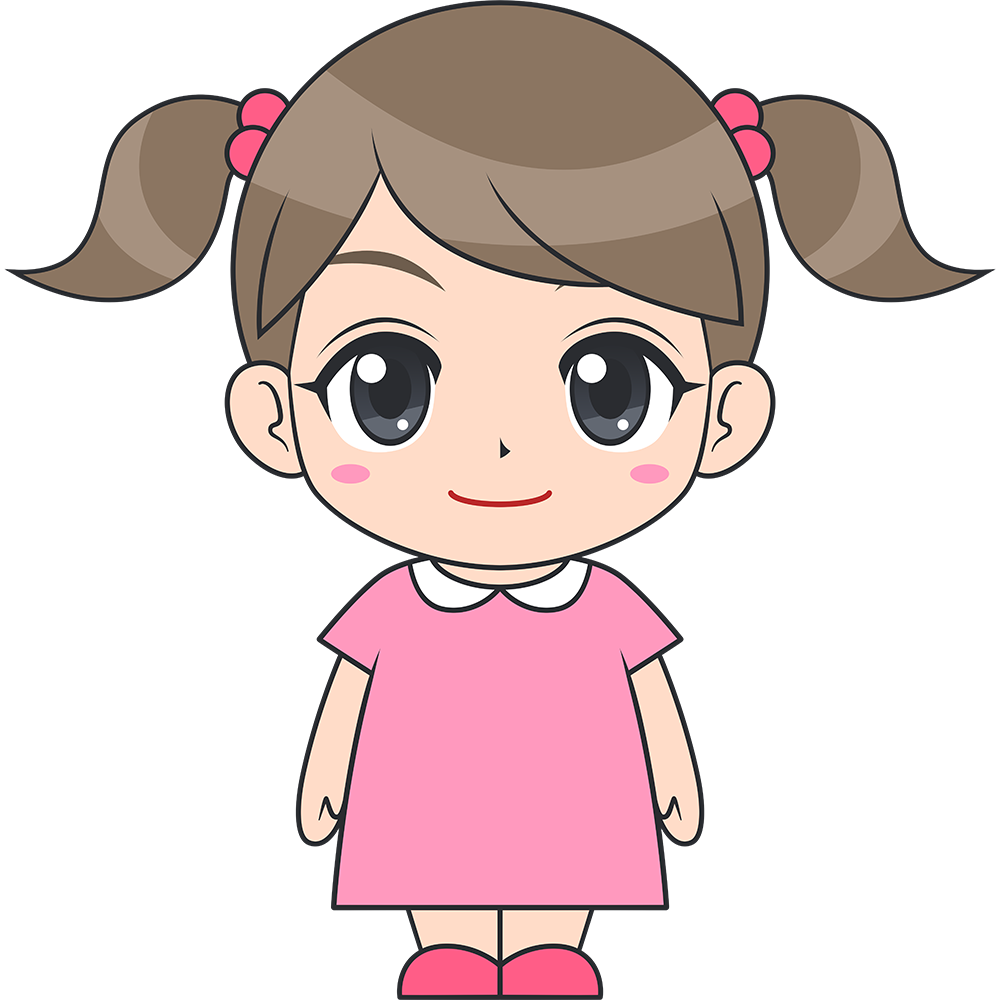 女の子(子供)のイラスト【無料・フリー】