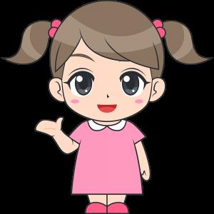 会話する女の子子供のイラスト無料フリー