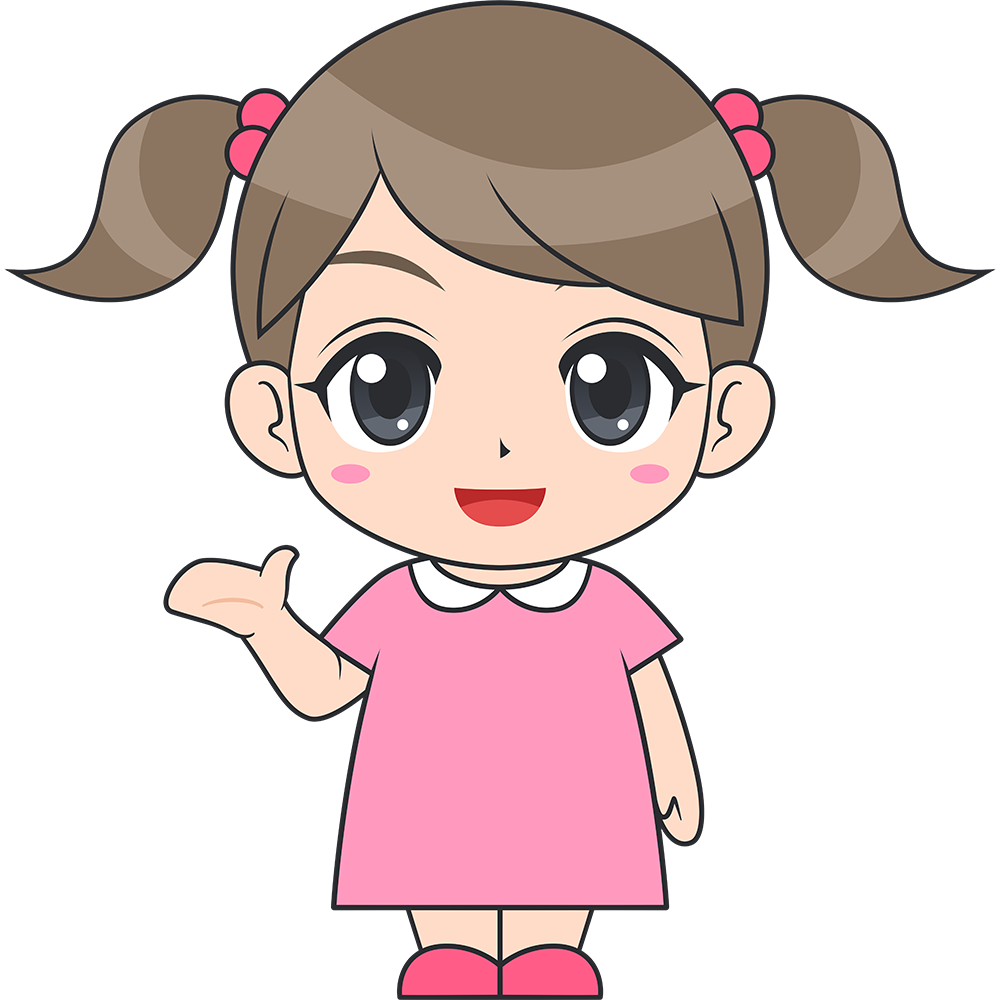 会話する女の子(子供)のイラスト【無料・フリー】