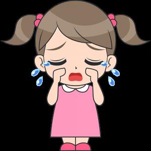 泣く女の子(子供)