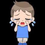 泣く男の子(子供)のイラスト【無料・フリー】