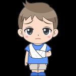 ケガをした男の子(子供)のイラスト【無料・フリー】