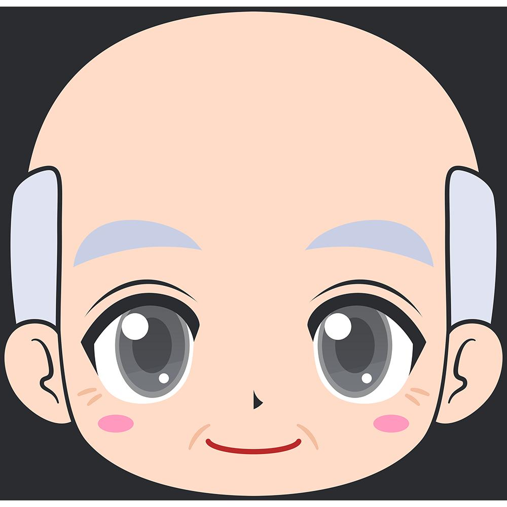 おじいさんの顔イラスト【無料・フリー】