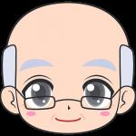 老眼鏡をかけたおじいさんの顔イラスト【無料・フリー】