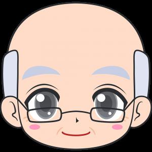 老眼鏡をかけたおじいさんの顔イラスト無料フリー