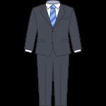 男性用スーツのイラスト【無料・フリー】