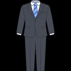 男性用スーツのイラスト無料フリー