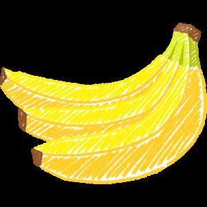 バナナの手書きイラスト
