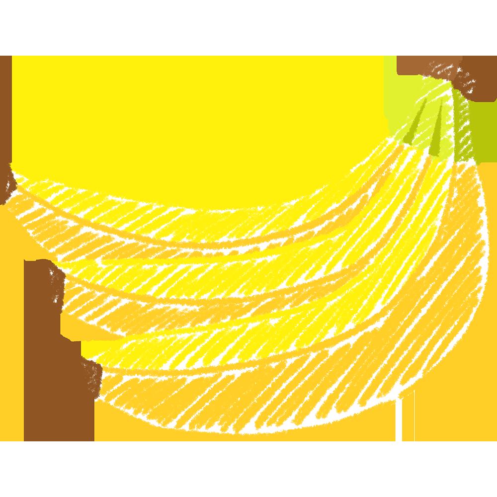 バナナの手書きイラスト【無料・フリー】
